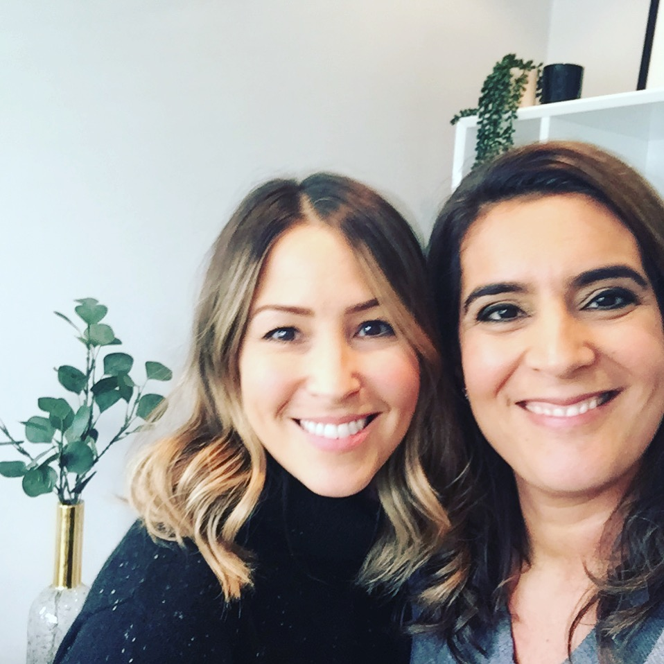 Samantha with S Club 7 pop star Rachel Stevens