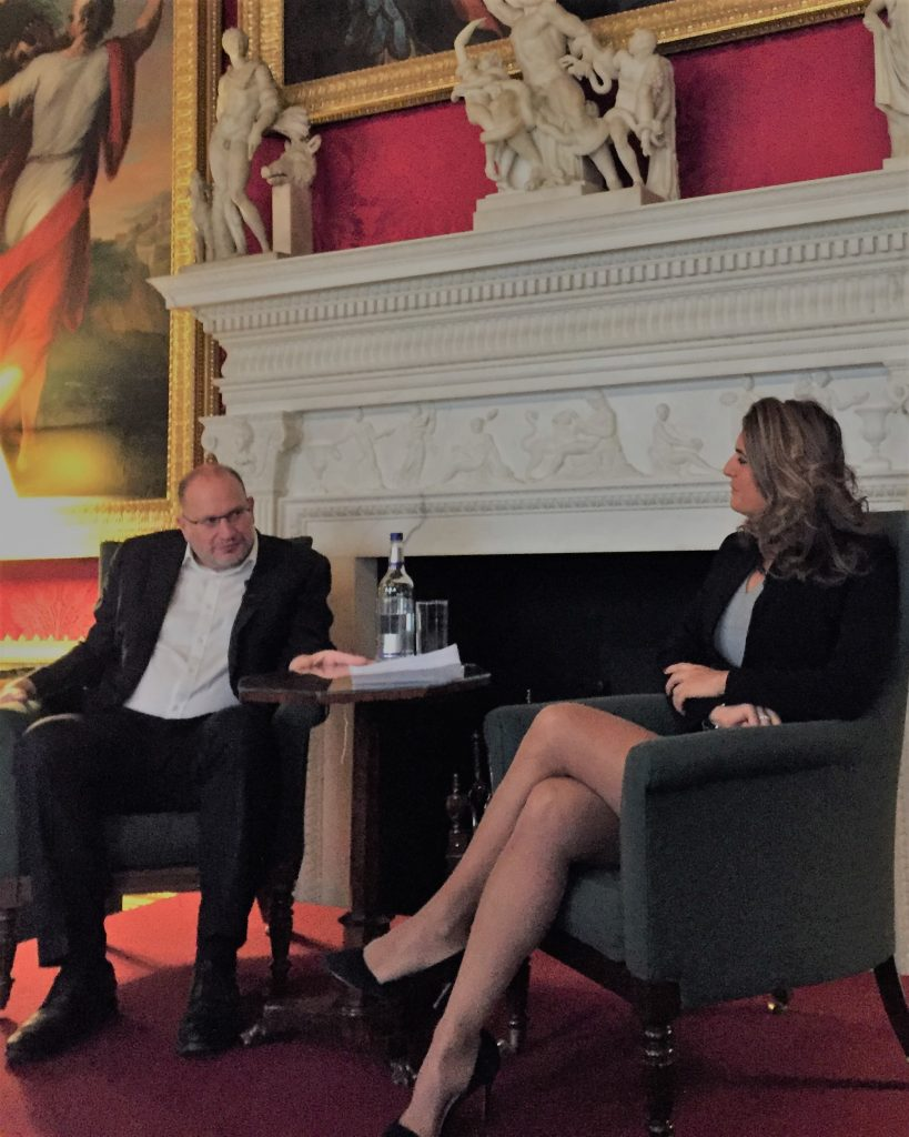 Samantha interviewing HSBC Chairman Mark Tucker